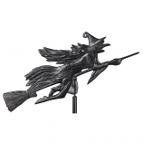 American Crafted Flying Witch Garden Weathervane - Black