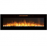 Regal Flame LW2072WS Gotham 72in Wall Mounted Electric Fireplace - Pebble