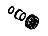 Waterco 1222252BLK 1in 25mm Multicyclone Union Adapter Half - Black