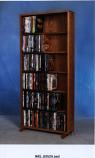 Solid Oak 6 Row Dowel DVD Cabinet Tower Model 615-24