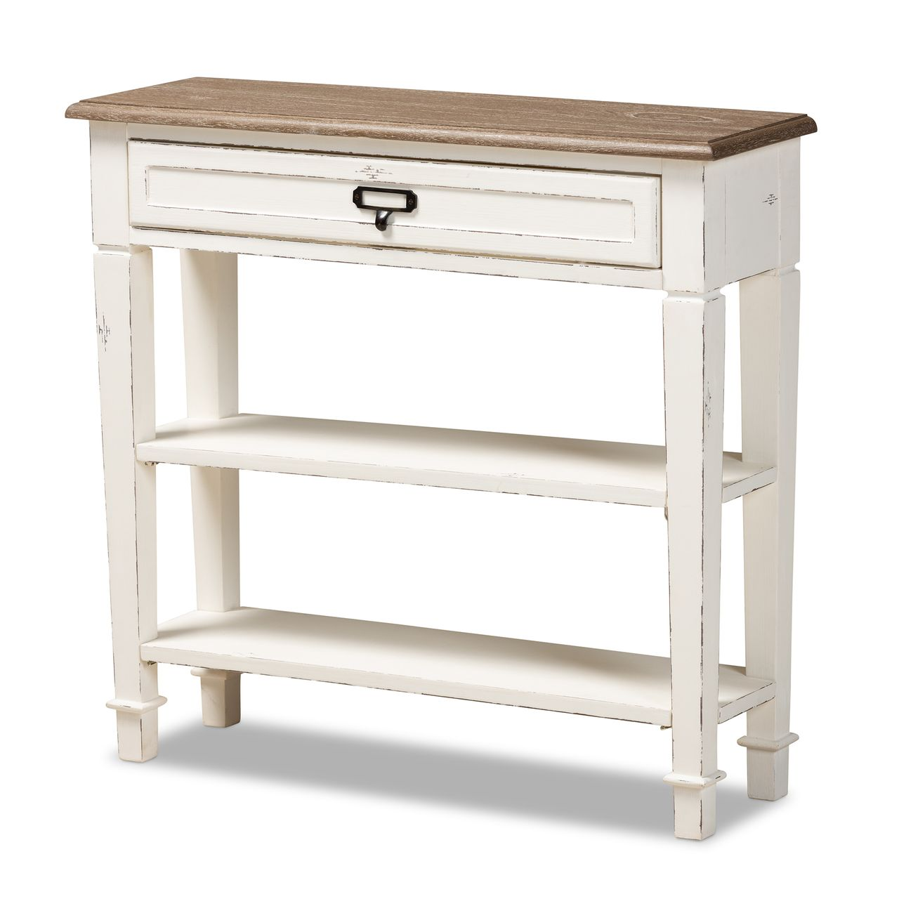 Baxton Studio Dauphine Blue Spruce Wood Accent Console Table