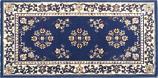 25'' x 56'' Blue Oriental Virgin Wool Hearth Rug