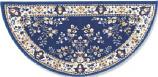 44'' Blue Oriental Virgin Wool Half-Round Rug