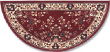 44'' Burgundy Oriental Virgin Wool Half-Round Rug