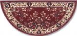 56'' Burgundy Oriental Virgin Wool Half-Round Rug