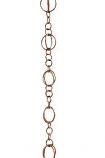 Patina R280H Copper Life Circles Rain Chain - 4.25'