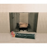 "48"" X 28"" Woodfield Hanging Fireplace Spark Screen, Rod Not Included"