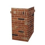 23 1/2 Inch D x 23 1/2 Inch W x 4' H MJ-611123 Square Chimney Surround