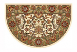46'' x 31'' Ivory & Green Floral Hearth Rug