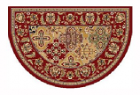 46'' x 31'' Red Kashan Hearth Rug
