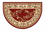46'' x 31'' Red & Ivory Trellis Hearth Rug
