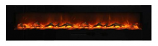 "88"" Flush Mount Electric Fireplace w/Black Glass Surround and Log Set"