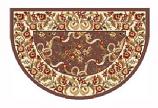 46'' x 31'' Plum & Ivory Floral Hearth Rug
