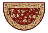 46'' x 31'' Red & Biege Floral Hearth Rug