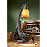 """Crouching Cat Flexing Feline"" Illuminated Sculpture"