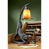 """Crouching Cat Flexing Feline"" Illuminated Sculpture"