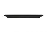 "The Crestwood 60"" Shelf or Mantel Shelf MDF in Black Paint"