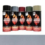 Metallic Gray - 1200 Degree Wood Stove High Temp Paint -