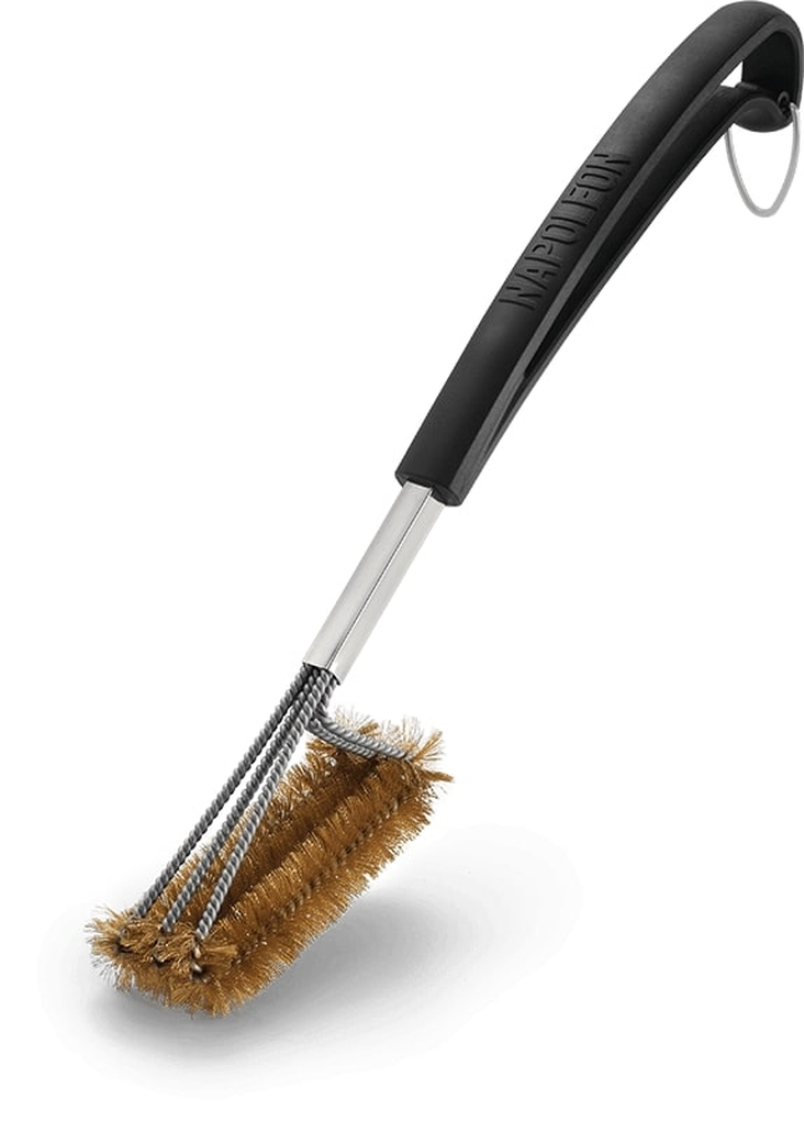 Napoleon Triple-Row Vertical Grill Brush With Brass Bristles