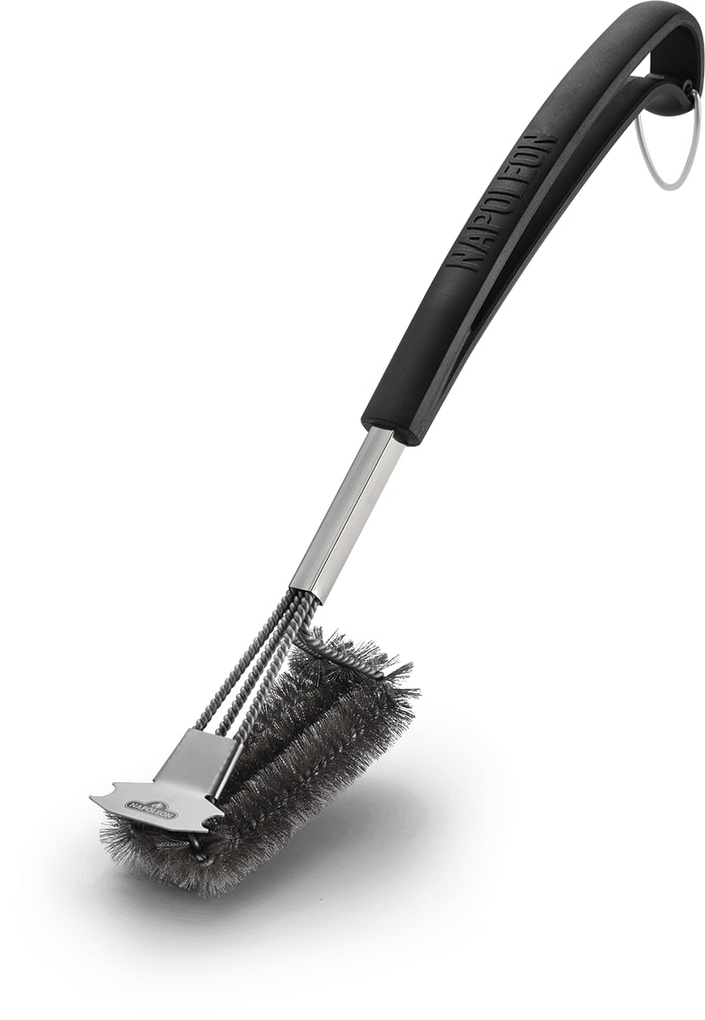 Napoleon Triple-Row Vertical Grill Brush With Stainless Steel Bristles