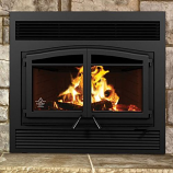 Flame Monaco XL Woodburning Fireplace with Faceplate & Brick Panels