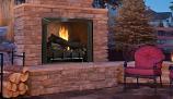 "36"" OD Vent-Free Firebox with Warm Red Split Herringbone Liner"