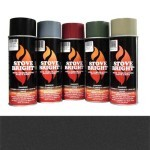 Metallic Black - 1200 Degree Wood Stove High Temp Paint -