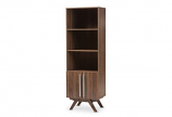 Ashfield Mid-Century Modern Walnut Brown Finished Wood Bookcase