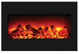 "33"" Zero Clearance Fireplace with 36"" x 24"" Black Glass Surround"