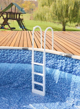 """Main Access 200300 Proseries Inpool Ladder for 48"""" to 54"""" Pool White"""