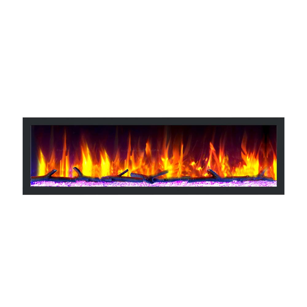 "Dynasty Cascade 64"" Smart Linear Electric Fireplace"