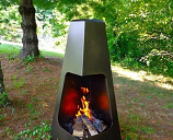 "46"" Pyramid Outdoor Wood Burning Chiminea - Bronze"