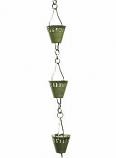 Verdigris Shade Cup Rain Chain -4.25