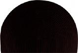 Half-Round 46 Inch x 31 Braided Polypropylene Hearth Rug - Solid Color Model 6616