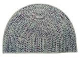 Tweed Braidmate 46'' x 31'' Half Round Taupe