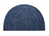 Tweed Braidmate 46'' x 31'' Half Round Navy
