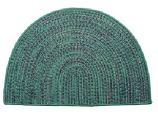 Tweed Braidmate 46'' x 31'' Half Round Green