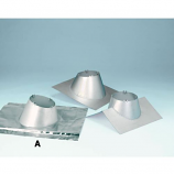 "6"" Secure Temp Roof Flashing Peak w/Storm Collar - 8/12 - 12/12 Pitch"