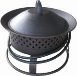 67836 Aurora Steel Gas Firebowl - Rubbed Bronze