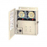 Intermatic PF1222TB1 Load Center with 2 T104M Time Switches