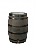 RTS Woodgrain Rain Barrel w/ Brass Spigot
