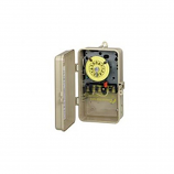 Intermatic T104P3 Time Switch DPST Outdoor Type 3R Plastic 208-277 VAC
