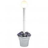 Milano White with White Globe Lantern Planter