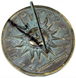 Rome Brass Sunrise Sunset Dial - Solid Brass with Verdigris