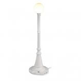 Milano White with White Globe Lantern