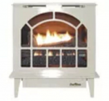 Buck Stove Hepplewhite Vent-Free Steel Gas Stove in Almond - NG