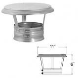 "Stainless Steel Vertical Cap - 6"""