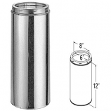 """Galvanized Chimney Pipe - 12"""" By Duratech"""
