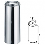 """Stainless Steel Chimney Pipe - 12"""""""