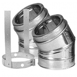 30 Degree Galvanized Elbow Kit - 6""